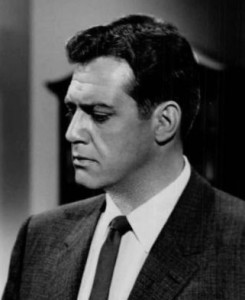 Raymond Burr as Perry Mason in premiere episode 1957 public domain